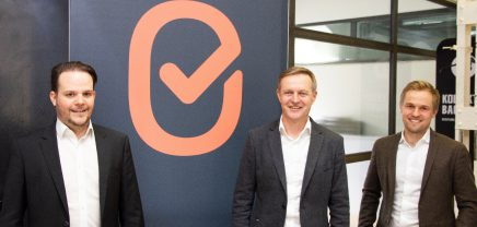 ImmoCheckout - from left to right: founder Benjamin Spekbatcher, investor Thomas Bashmeyer, and founder Stefan Schisel
