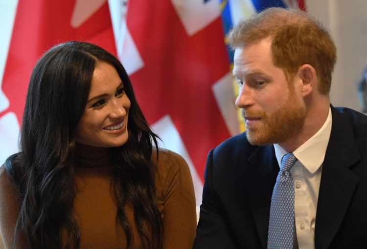 Prince Harry and Duchess Meghan at an event in London in January 2020