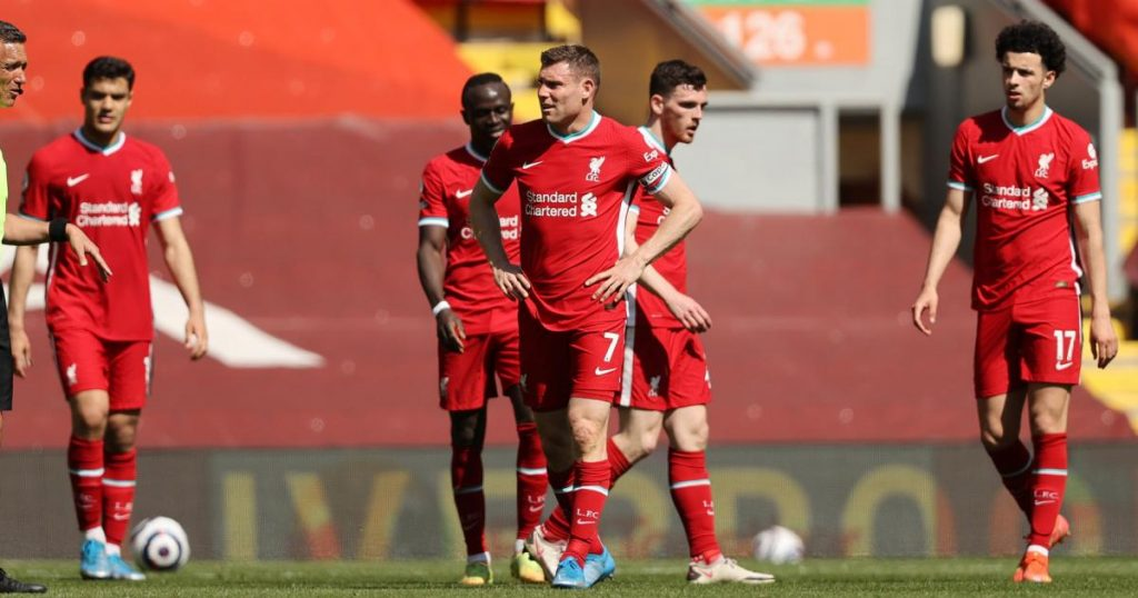 A setback for Liverpool in their fight for the Champions League positions