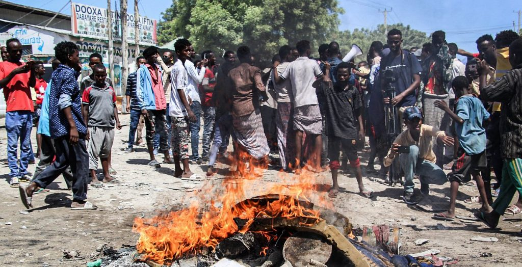 East Africa - Somalia, apparently ahead of new elections