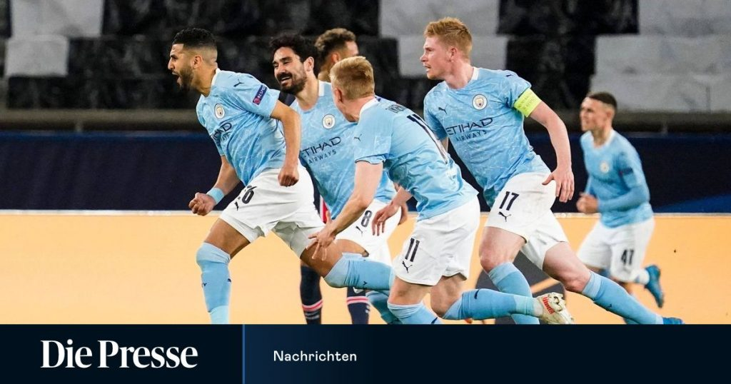UEFA Champions League: Manchester City are in the semi-final first leg against Paris