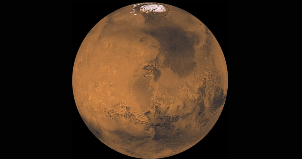 The discovery of a mysterious glacier on the surface of Mars