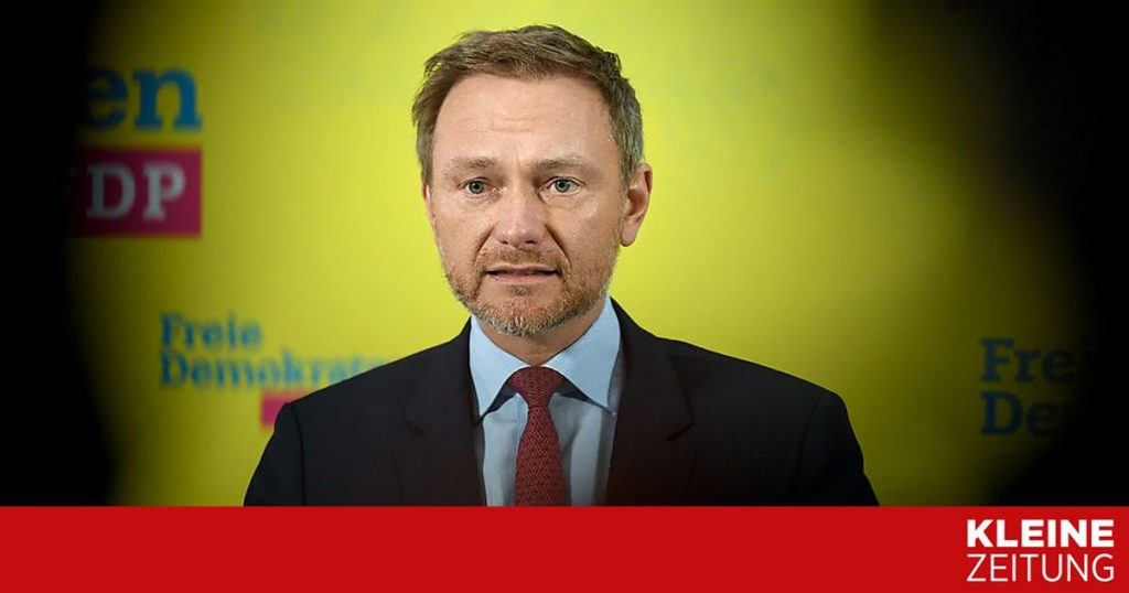 """Lindner was re-elected president of the German Free Democratic Party """"kleinezeitung.at"""
