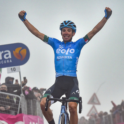 """Image for text """"Thrilling victory for Fortunato over Monte Zoncolan"""""""