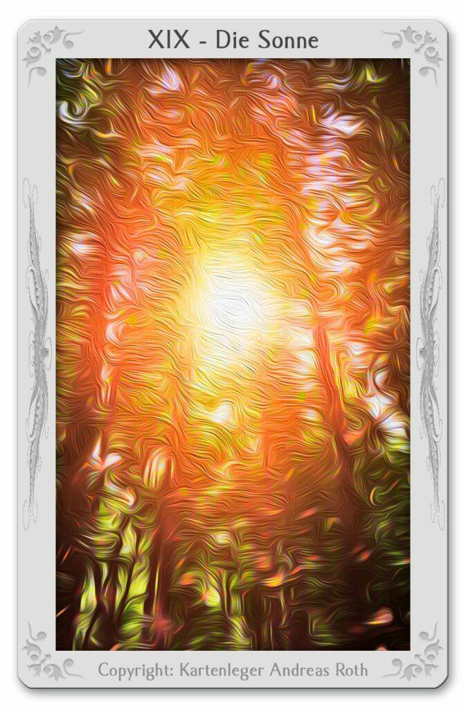 Tarot card 19 Sun