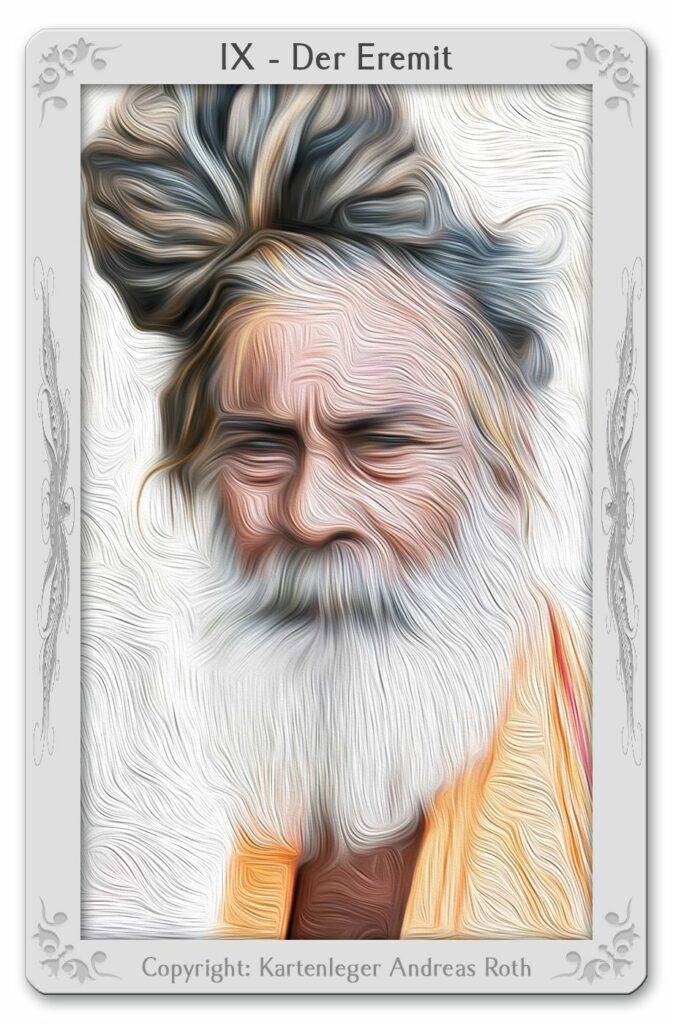 The Tarot Card 9-Hermit