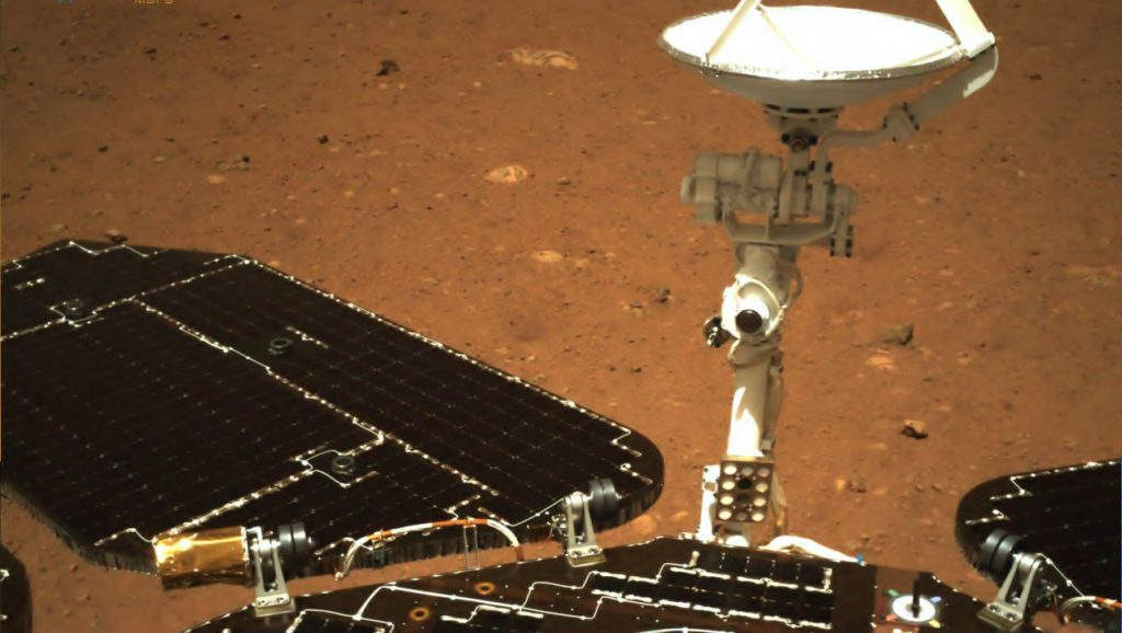 """The Chinese Mars probe """"Zhurong"""" is sending its first pictures"""