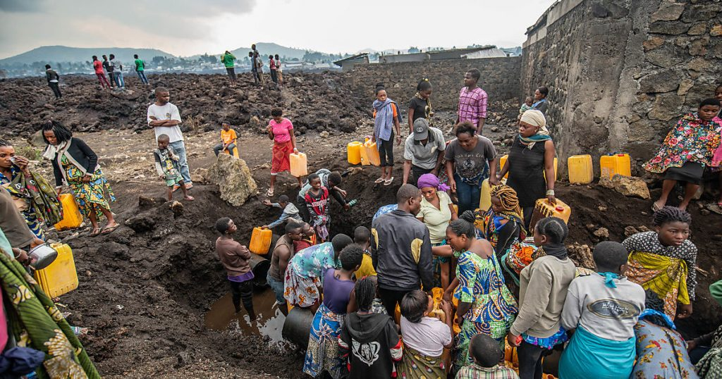 The first cases of cholera in Goma after a volcanic eruption