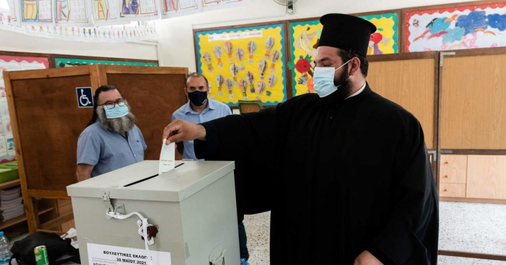 The most powerful conservative party in the parliamentary elections in Cyprus
