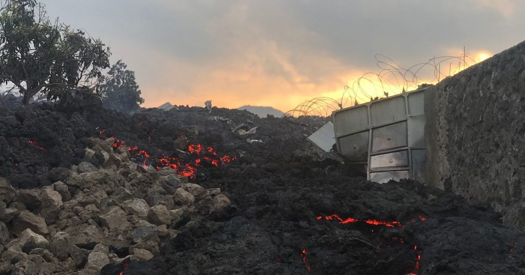 Volcanic eruption: Lava flow stopped in front of Goma City