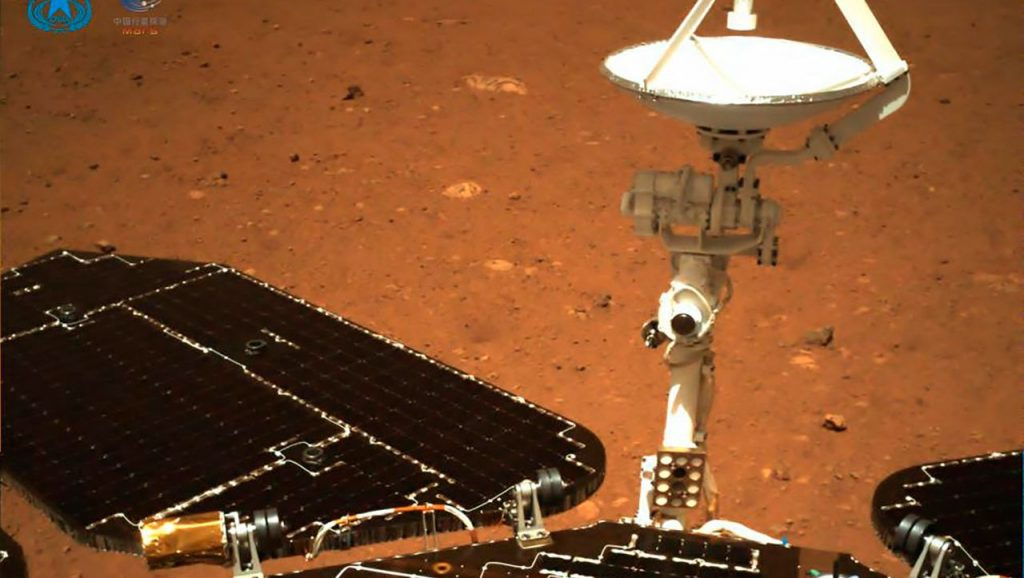 Zhurong: China's Mars probe sending its first images