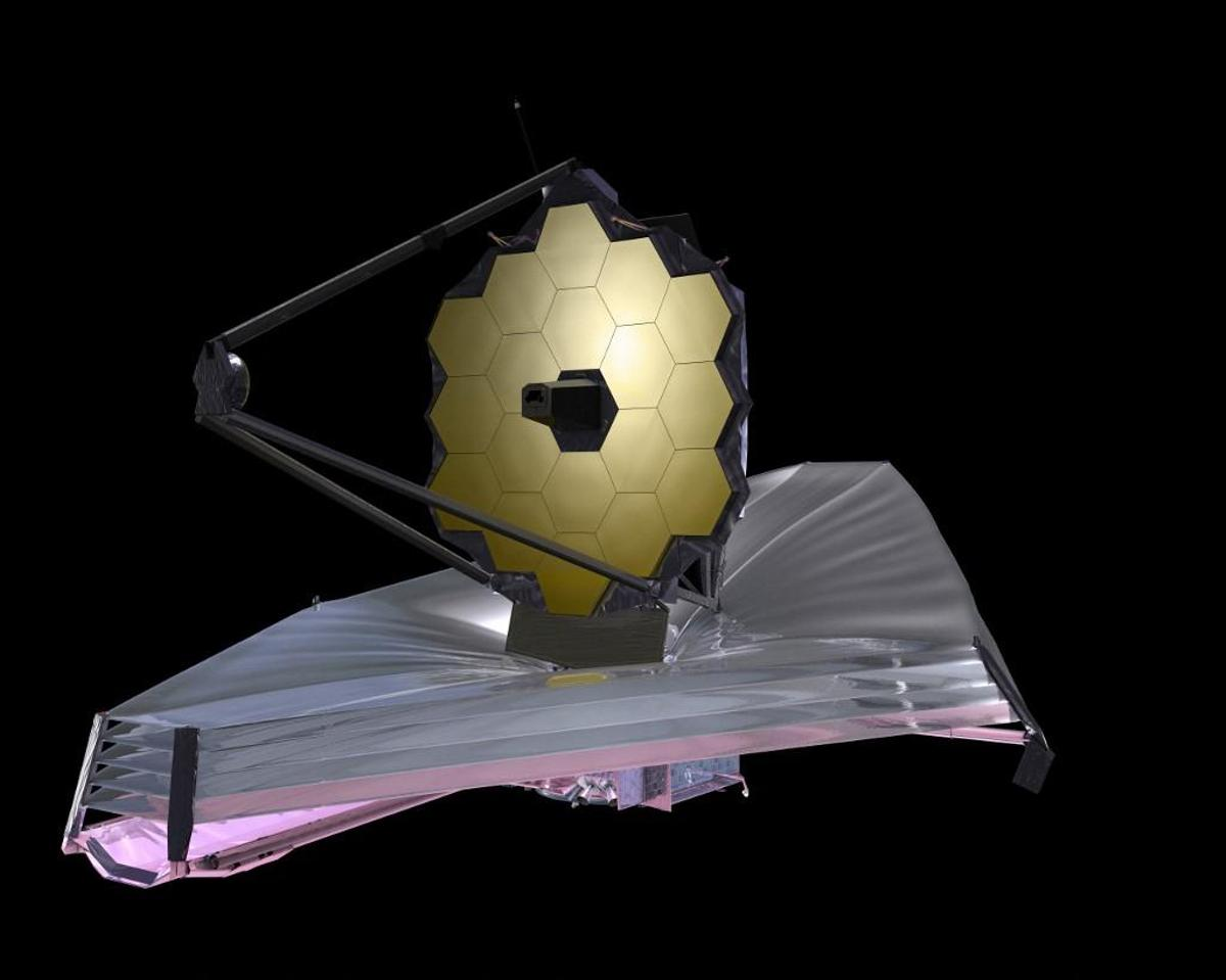 Since the telescope will orbit the sun, it needs a sun protection sail the size of a tennis court.