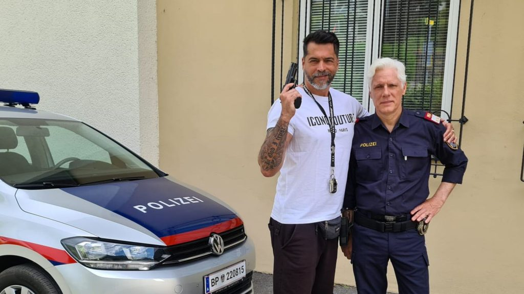 Aurelio Safina will soon appear as a policeman in an exciting TV movie!