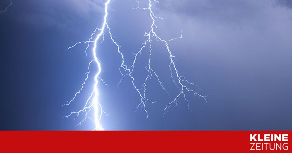 Meteorologists warn of thunderstorms and hail «kleinezeitung.at