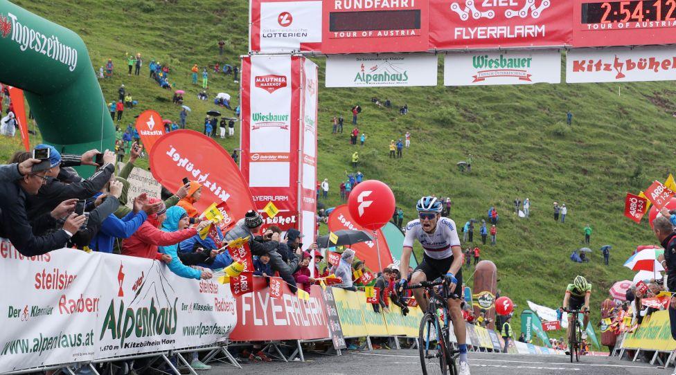 KITZBUEHEL, AUSTRIA, July 12, 2019 - CYCLING - Tour of Austria, Stage 6, Kitzbuehel - Kitzbueheler Horn.  The photo shows Alexander Vlasov (Gazprom Rosvelo, Russia).  Photo: Jeba Pictures/Andreas Branter