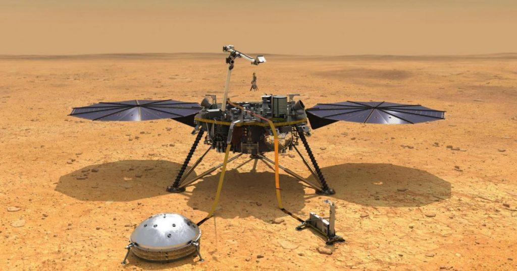 NASA probe removes Martian dust from solar panels