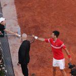 Novak Djokovic and the very special coach in the Tennisnet.com final