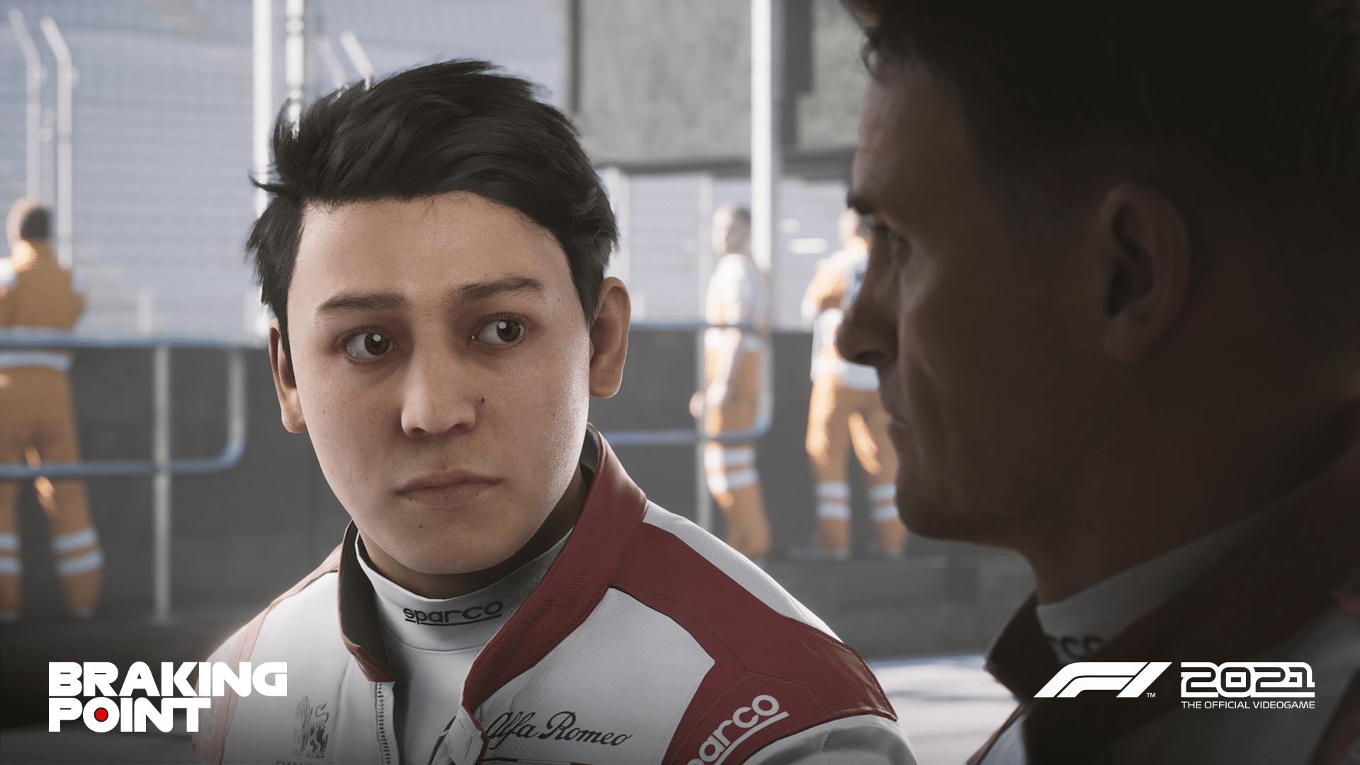 Aiden Jackson in F1 2021. - (C) Codemasters