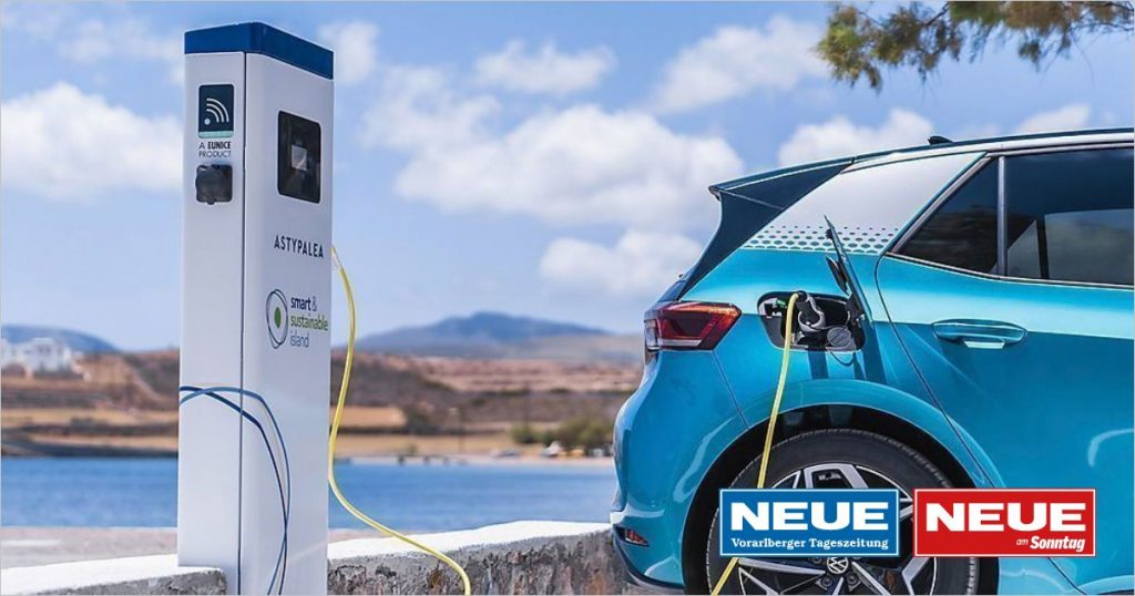 Volkswagen: e-mobility on the Greek island