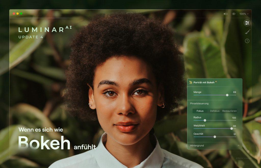 Luminar AI 4 update brings bokeh function |  software