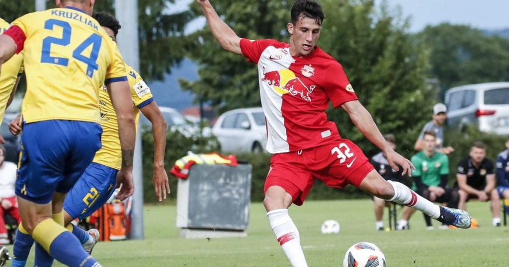 In Red Bull Salzburg, there is a tough battle before the test match begins