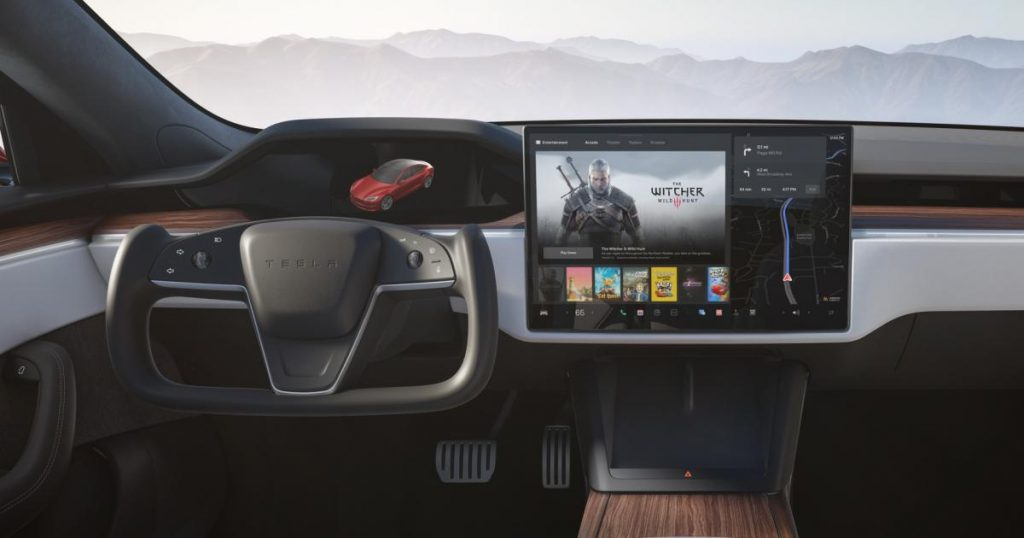 The new Teslas is only available with steering wheel yoke