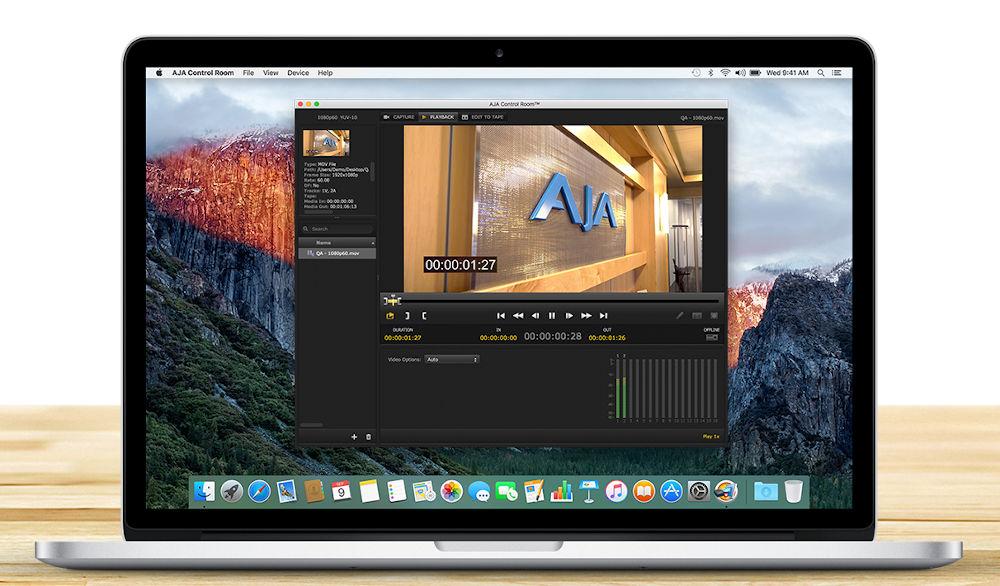 AJA Desktop Software 16.1 brings native support for Apple M1