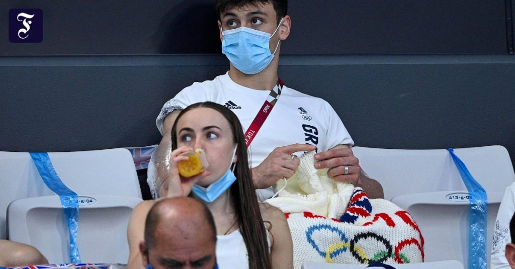 Tom Daley as the Olympic Champion in Knitting