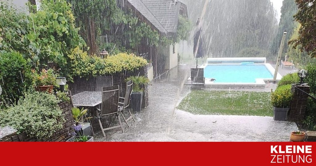 Heavy rain threatens here today in Carinthia «kleinezeitung.at