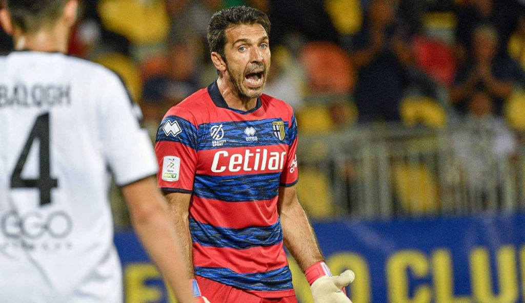 Gianluigi Buffon celebrates Parma's comeback after 20 years and fails