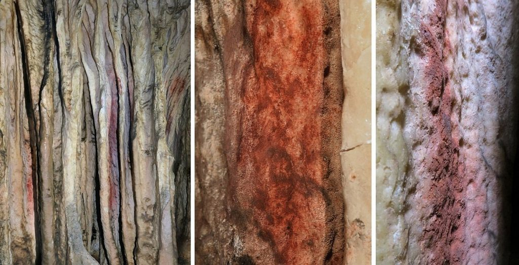 Human History - Neanderthal drawing 65,000 years ago