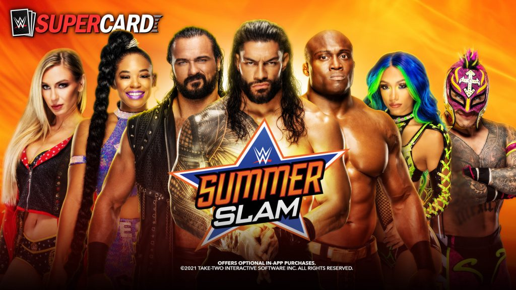 """In the """"Biggest Festival of Summer"""" there is a chance to get rewards in RewardMania and the new """"SummerSlam '21"""" card level."""