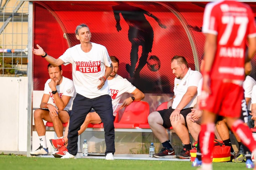 Starting point: Coach Madeleineer tied Steyer against Juniors Upper Austria - Second Division