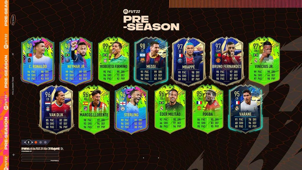 The best groups again with the pre-season event