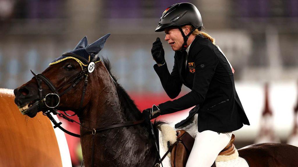 Fünfkämpferin Annika Schleu musste den Gold-Traum begraben.