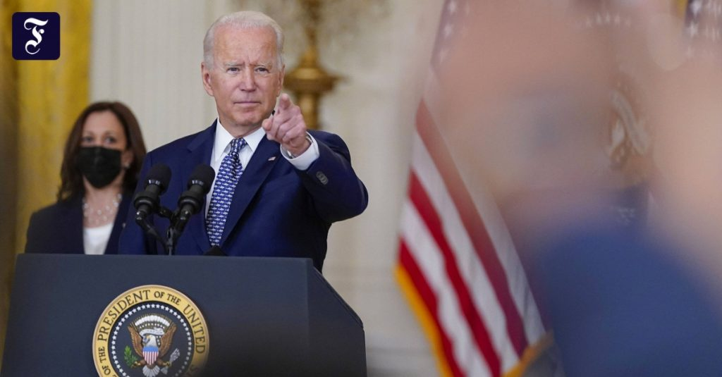 US President Joe Biden after the Taliban invasion: Afghans must want to fight