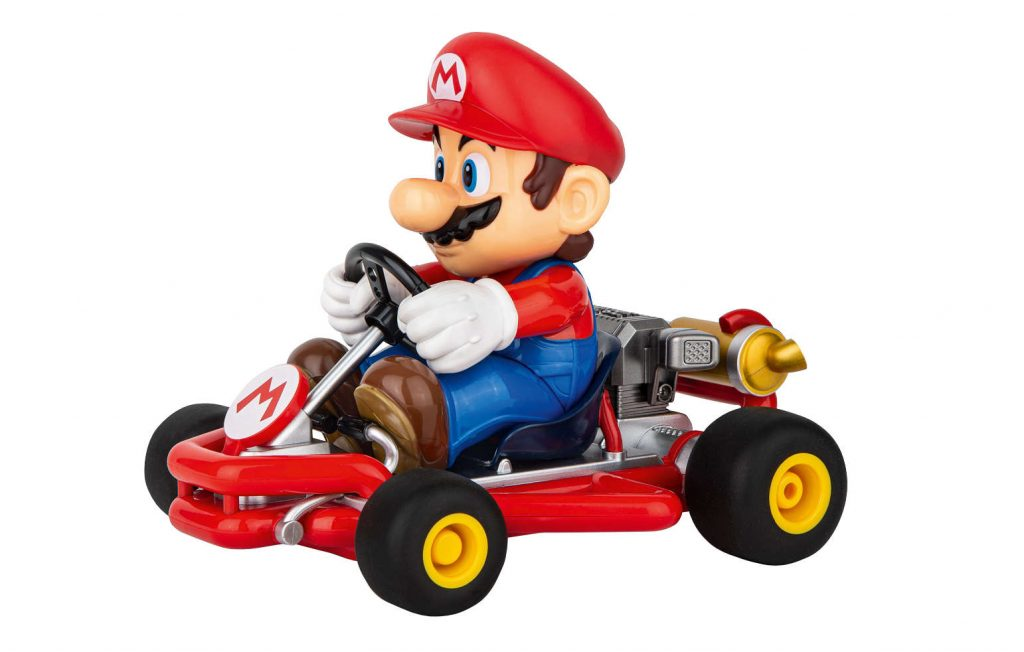 Fast-paced racing away from the screen with Mario Karts from Carrera RC