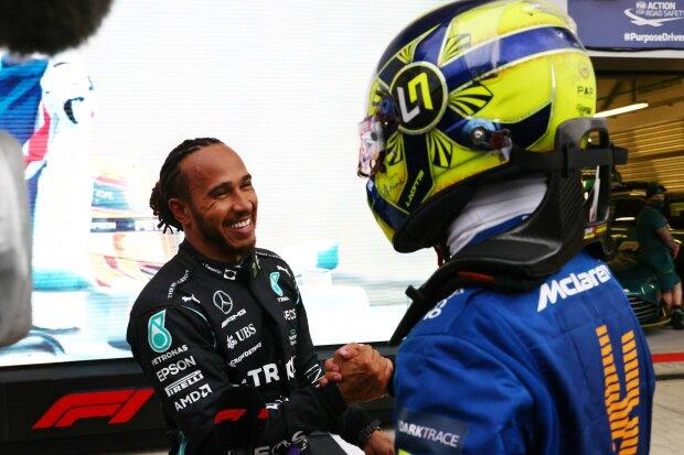 Lando Norris Lewis Hamilton McLaren McLaren F1 Mercedes Mercedes F1 ~ Lando Norris (McLaren) and Lewis Hamilton (Mercedes) ~