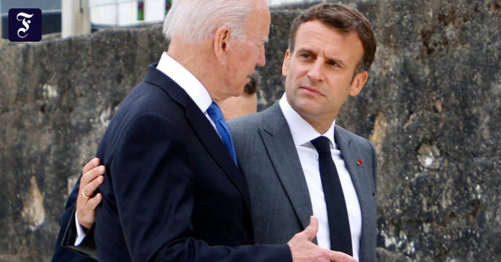 Macron and Biden agree to 'deep consultations' in submarine dispute