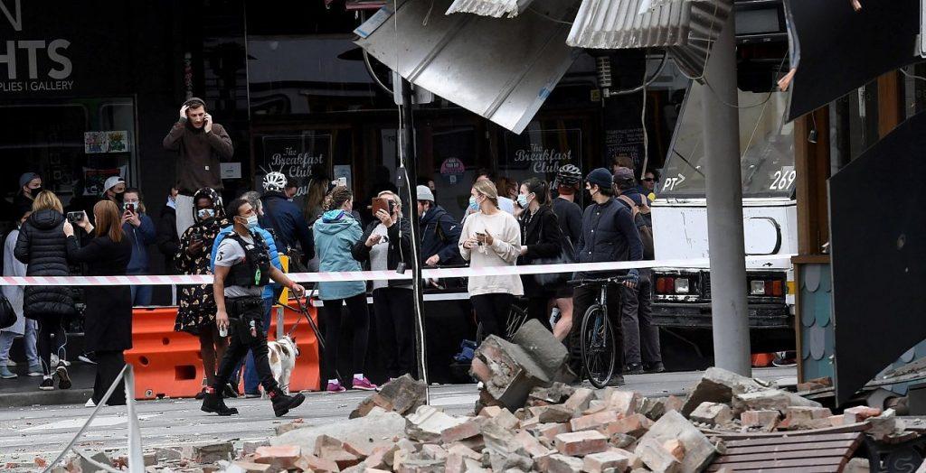 Natural disaster - earthquake strikes southeast Australia