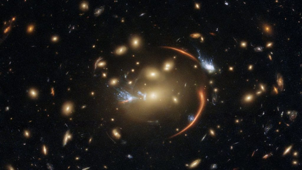 Physicist: a supernova behind the lens