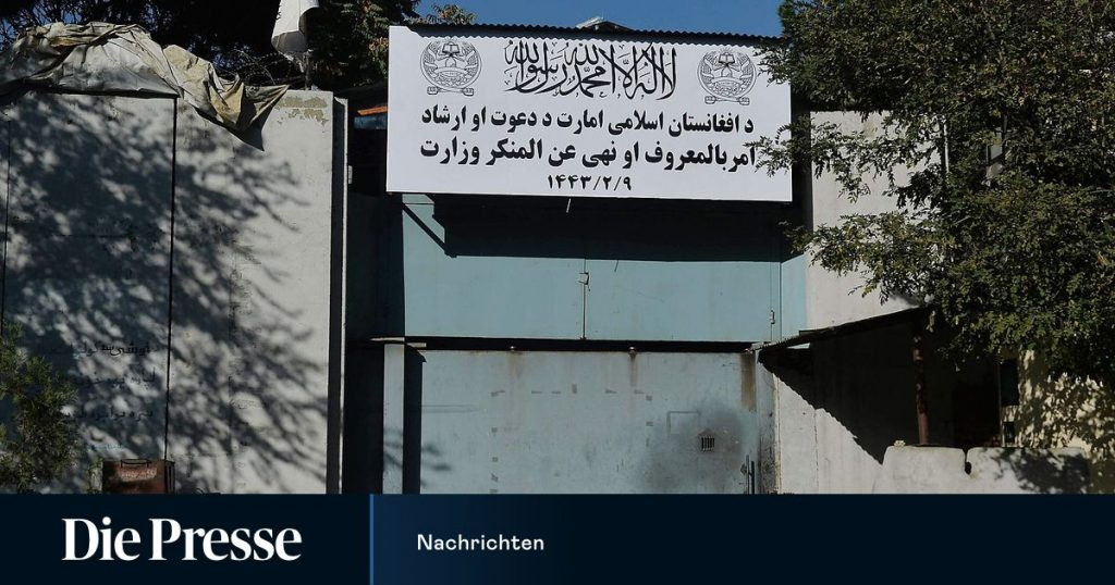 The Taliban replaces the Ministry of Women with the Ministry of Virtue