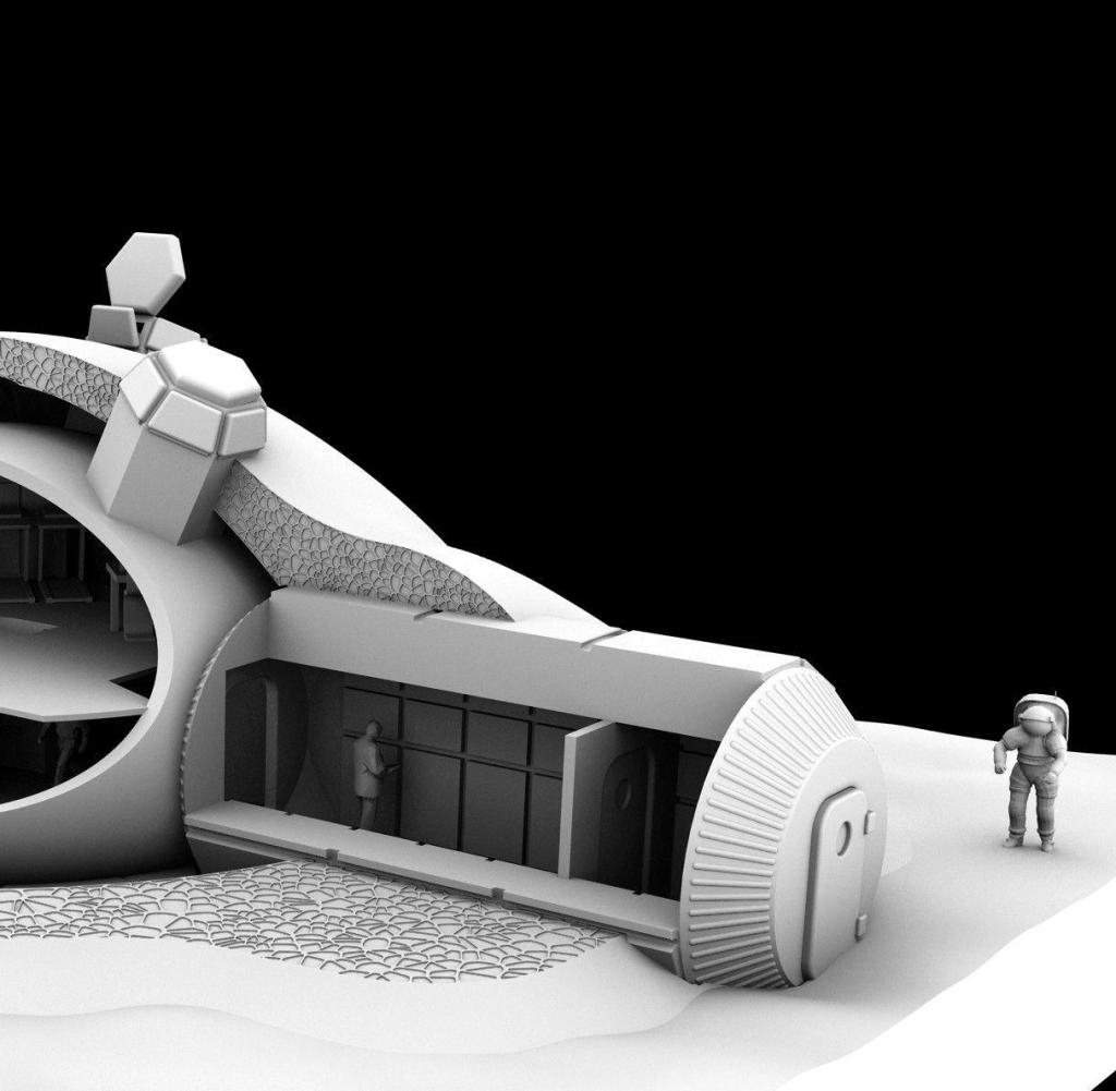 For ESA's 3D-printed lunar base concept, Foster + Partners created a dome design