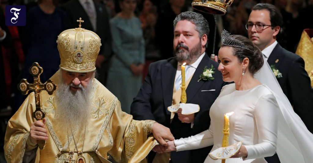 The Romanovs celebrate their first wedding